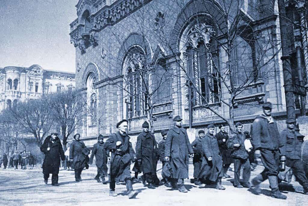 Немецкие и румынские пленные Одесса 1944 освобождение