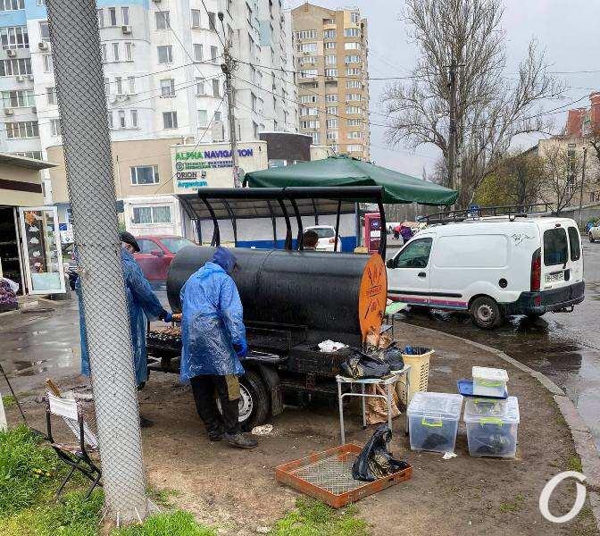 мангал на колесах в Одессе2