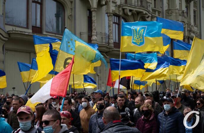 «Марш патриотов» и черные шары: чем запомнился в Одессе пасхальный день 2 мая