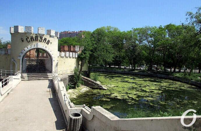 Одесский Дюковский парк: пруд чистый – пруд грязный (фото)