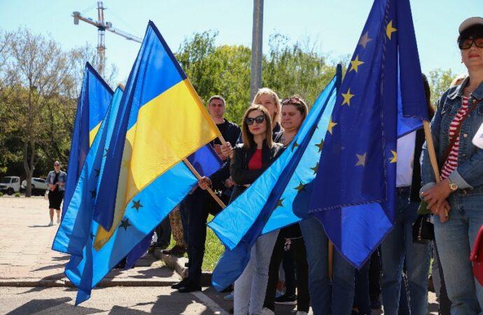 Одесса отмечала День Европы: флаги, лицеисты, «Еврогородок» (фото)