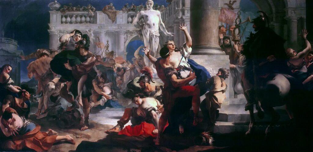 Похищение сабинянок Тьеполо