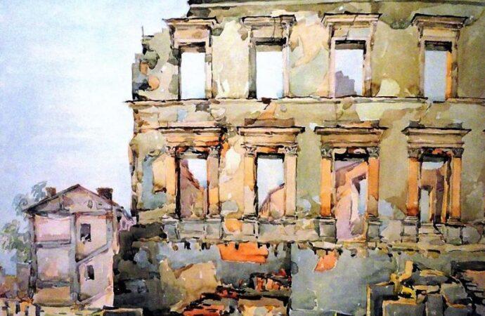 Одесса в 1945 году, руины дома