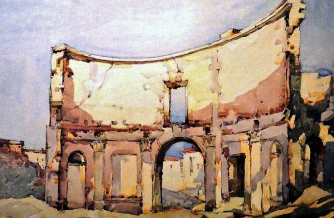 Одесса в 1945 году, руины дома2