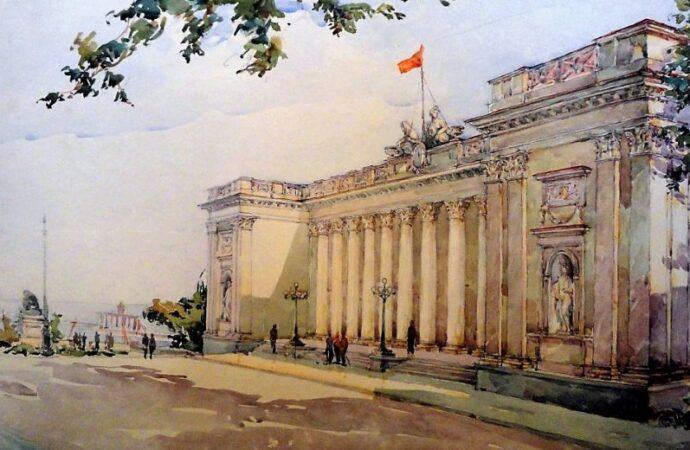 Одесса в 1945 году, старая биржа
