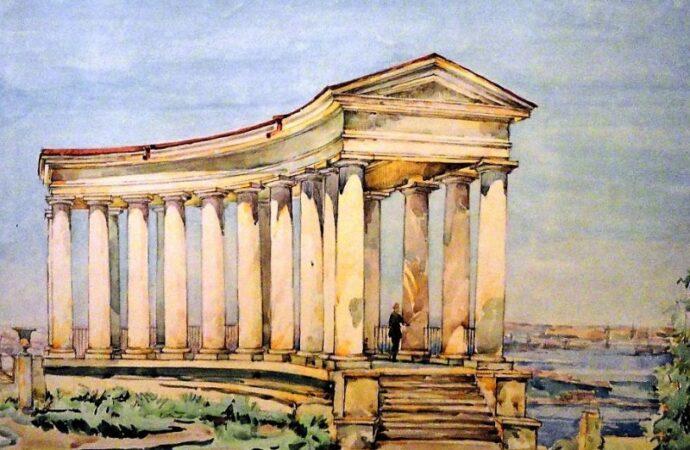 Одесса в 1945 году, колоннада