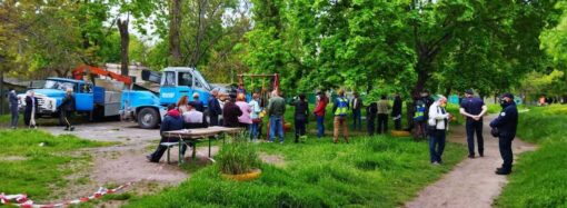 Жители спального района Одессы вышли на защиту зеленой зоны (фото, видео)