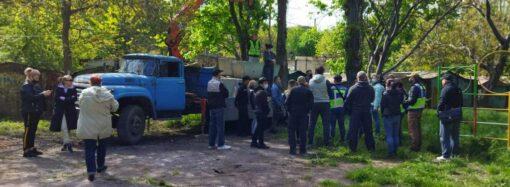 Одесситам не удалось отстоять зеленую зону возле суда на Черемушках – территорию ограждают