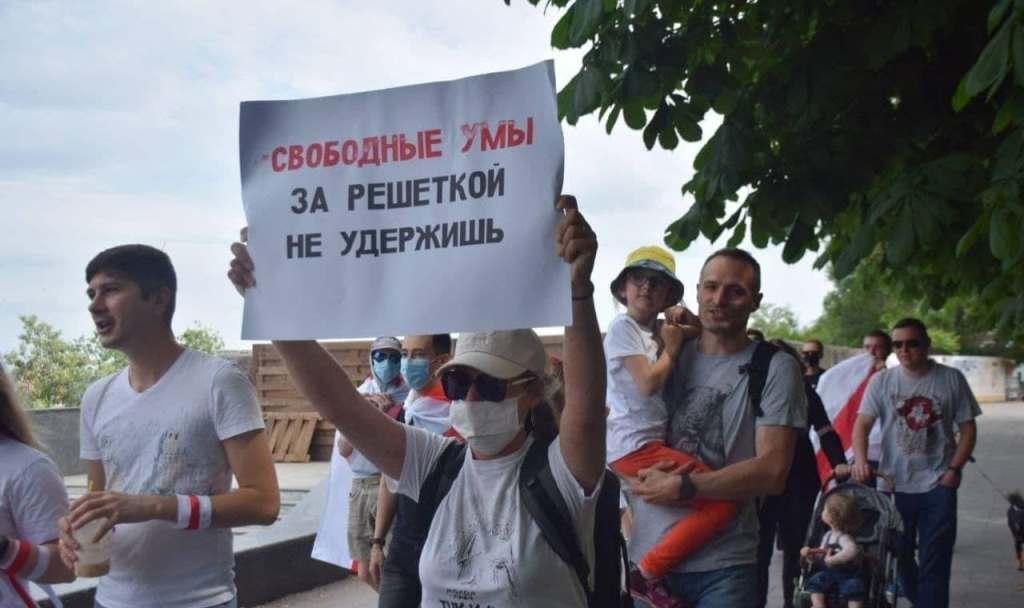 акция белорусов на Потемкинской лестнице2