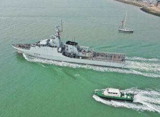 В Одессу зашел британский военный корабль (видео)