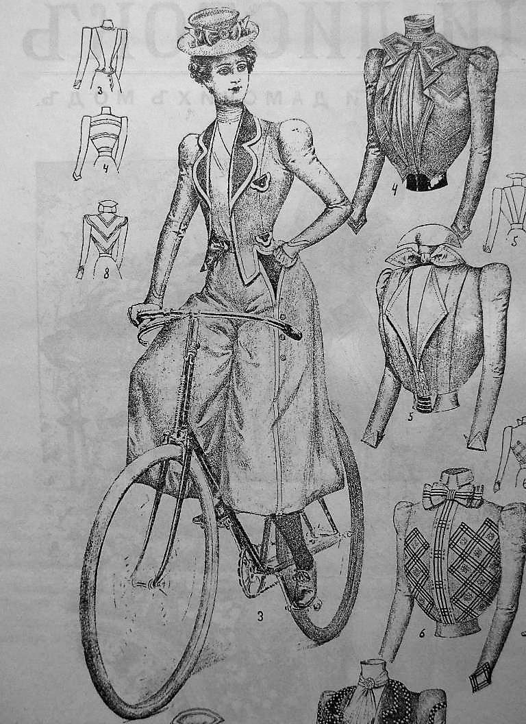 мода в Одессе 1899 г., велосипед