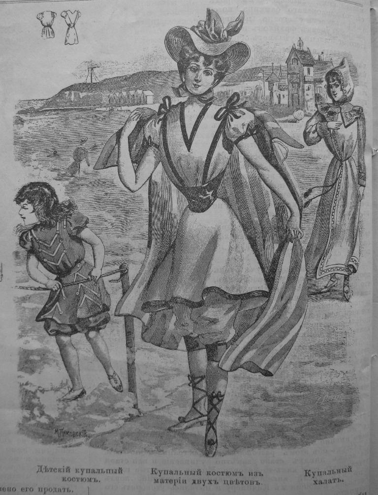 мода в Одессе 1899 г., пляж