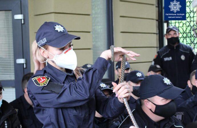Для одесских полицейских и спасателей провели тренинг со змеями (фото)