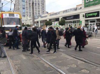 В Одессе протестуют торговцы цветами