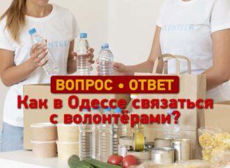 Вопрос – ответ: как связаться с волонтерами в Одессе?
