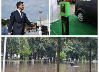 Главные новости Одессы за 20 июня: визит президента, потоп в Измаиле и одесский электромобиль
