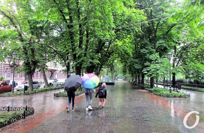 Июнь по-одесски: умытый дождем Приморский бульвар (фоторепортаж)