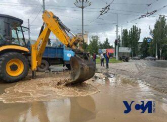 Коммунальная авария на площади Толбухина в Одессе привела к транспортному коллапсу (карта)