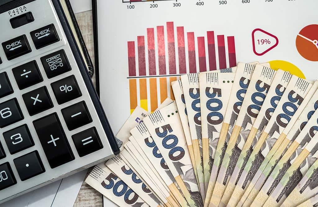 деньги гривни график украина