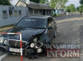 В Одесской области пьяный полисмен на «Мерседесе» пытался протаранить пограничников (фото)