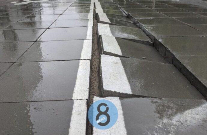 В Одессе второй раз за год «поплыла» велоэстакада на 10-й станции Фонтана (фото)