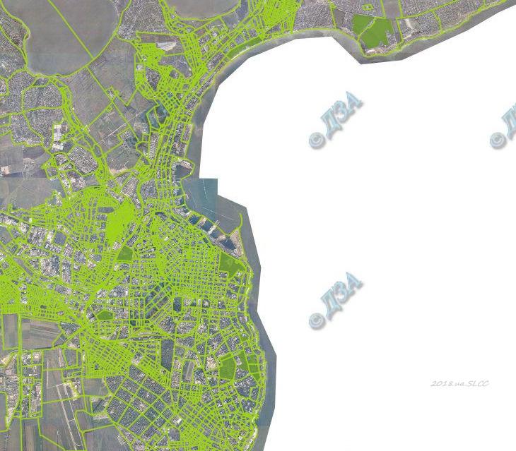 карта заповедных объектов Одессы