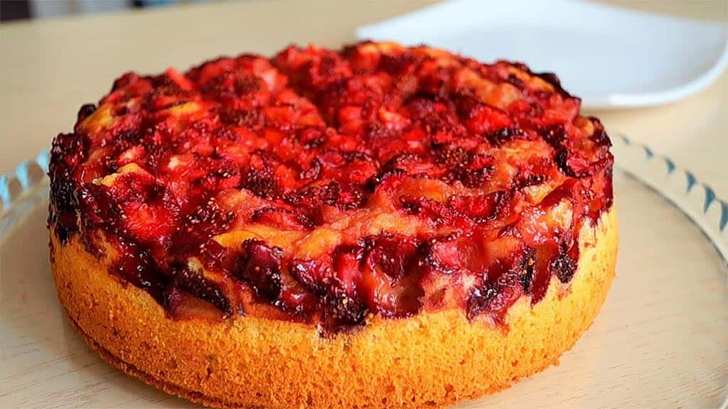 клубника пирог