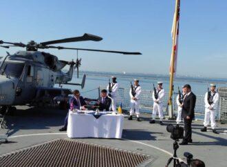 Великобритания и Украина договорились в Одессе о постройке военных кораблей и морских баз
