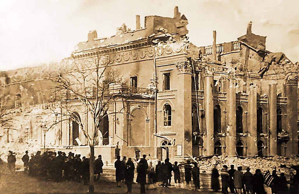 после пожара Одесса театр