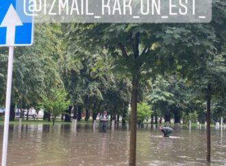Измаил в Одесской области затопило после дождя