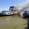 В Одесской области загорелся пассажирский теплоход (фото)