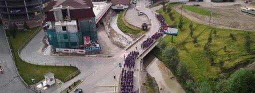 Мирная женская армия обучалась в Буковеле