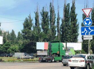Новая круговая развязка в Одессе: схема проезда со всеми знаками и разметкой