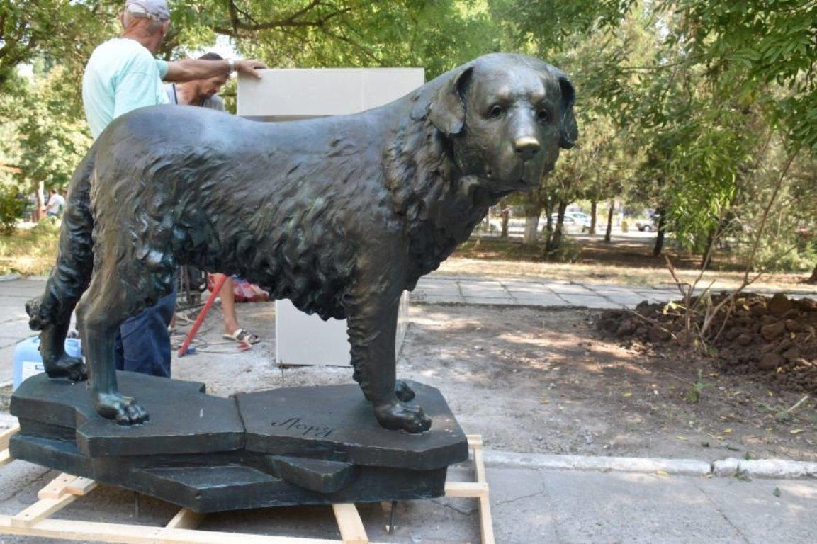 памятник собаке в Черноморске