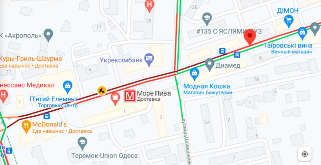 Пробки 12 июля, Черняховского
