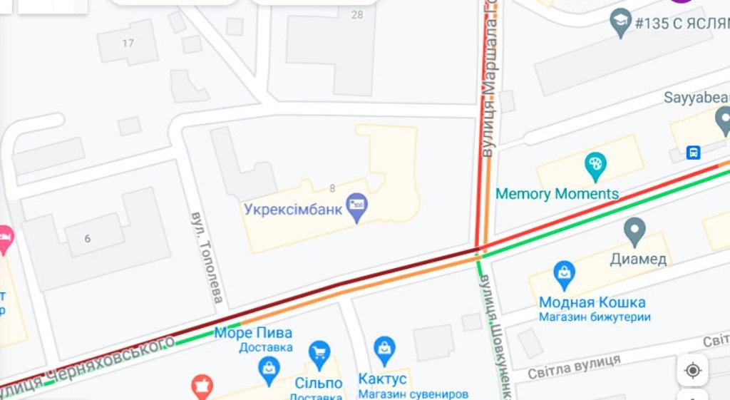 Пробки 19 июля, Черняховского