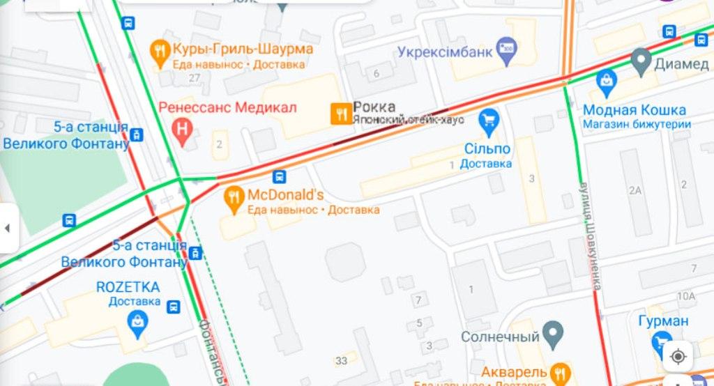 Пробки 26 июля, Черняховского