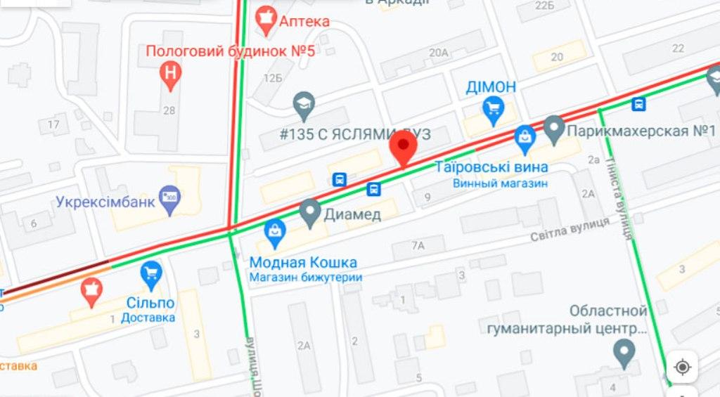 Пробки 28 июля, Черняховского