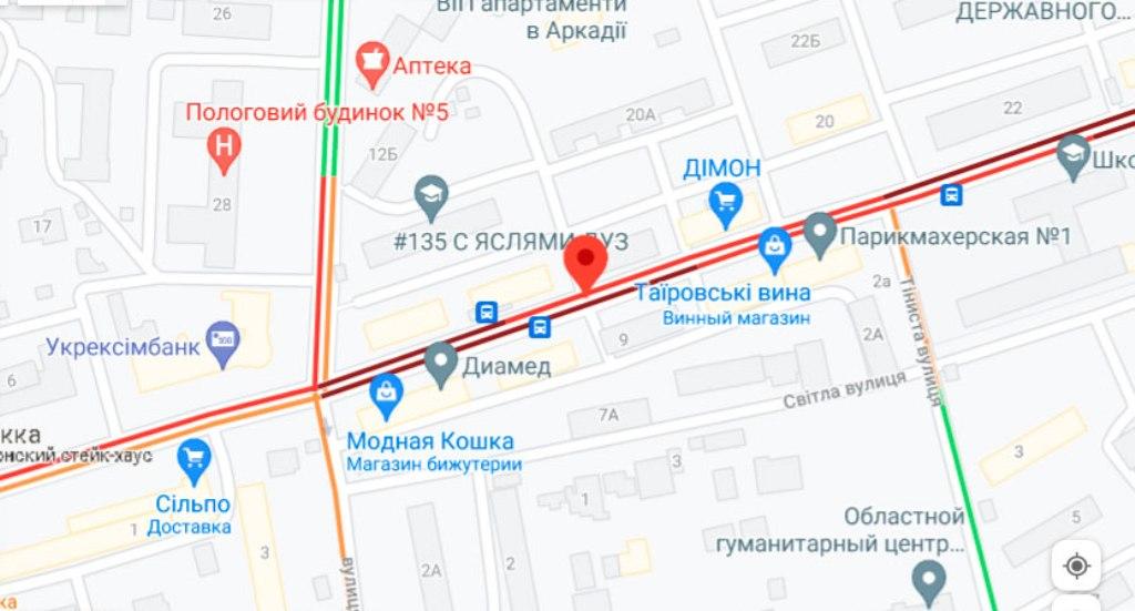 Пробки 9 июля, Черняховского