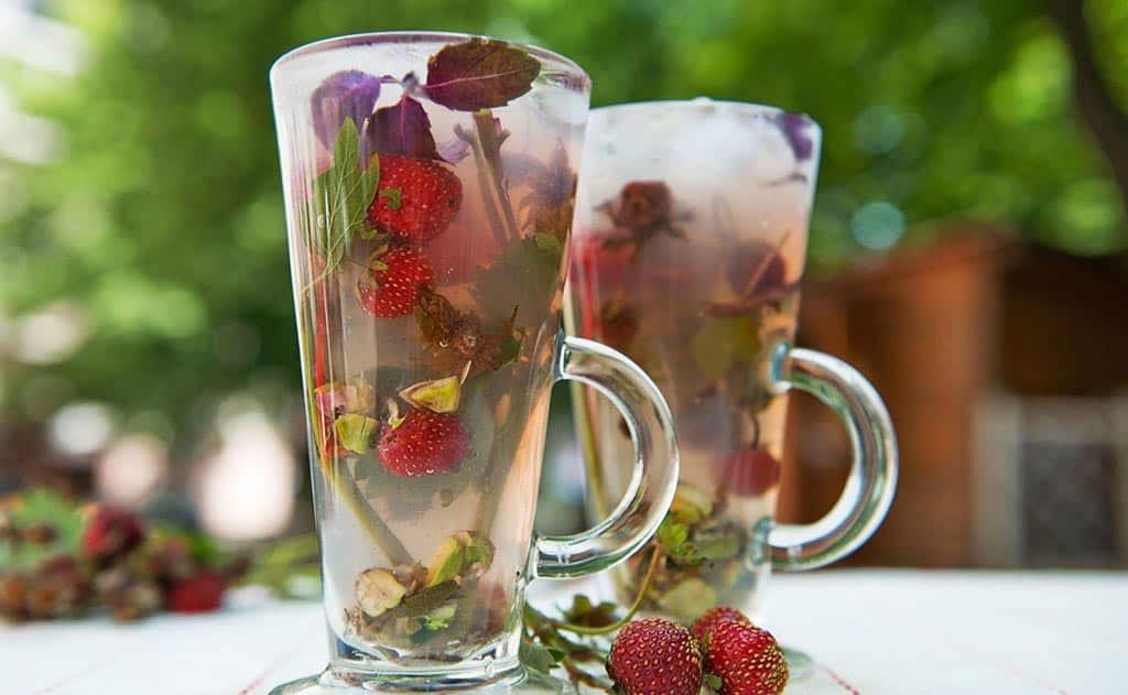 чай клубника