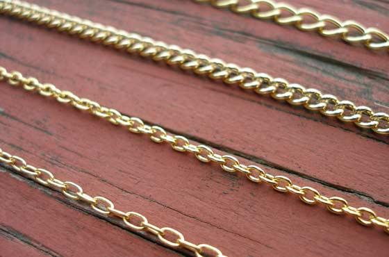 Золотая женская цепочка