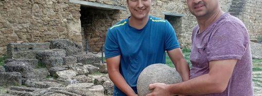В Аккерманской крепости нашли целое каменное ядро