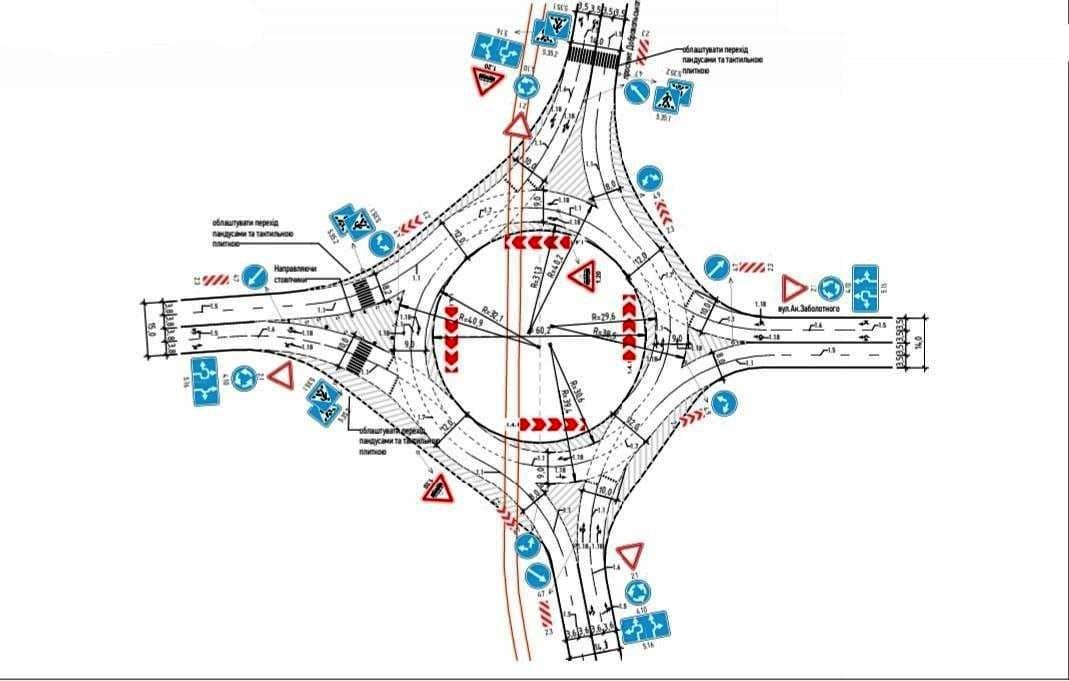 круговое движение на Котовского, схема