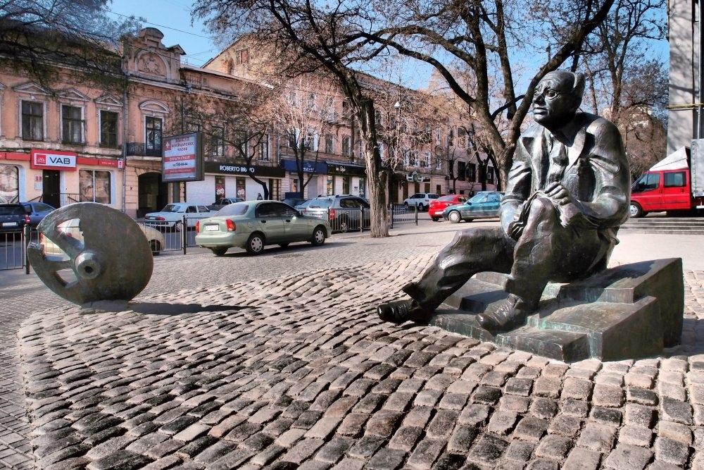 памятник бабелю в Одессе