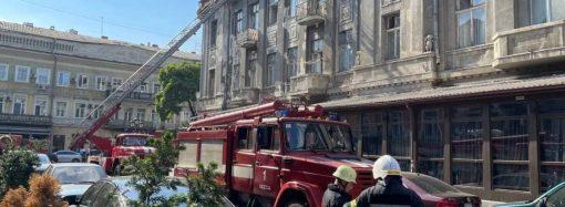 В центре Одессы горел дом-памятник архитектуры – есть пострадавший (фото)