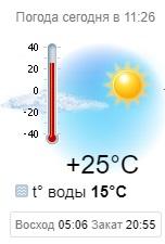 прогноз температуры моря