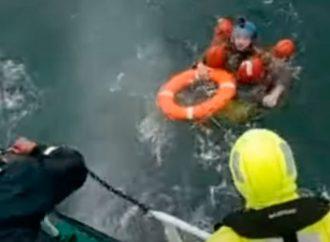 Во время учений «Си Бриз» измаильские пограничники спасли парашютиста (видео)