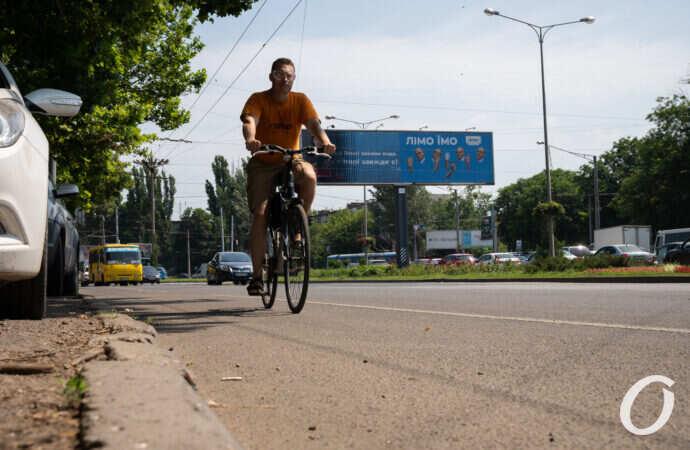Как работает новая велополоса на Люстдорфской дороге в Одессе: фото-видео инспекция