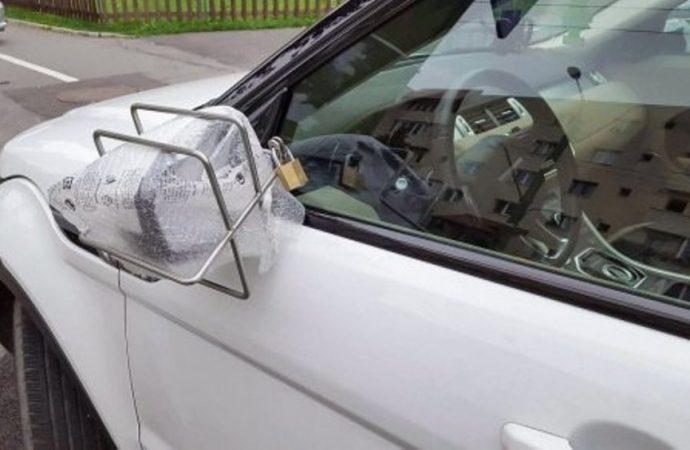 В Одессе похитители автономеров переключились на зеркала заднего вида (видео)