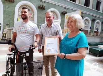 На одесском Главпочтамте чествовали лучшего украинского подписчика периодических изданий (фото)